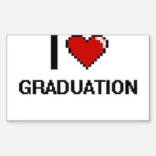 I love Graduation Decal