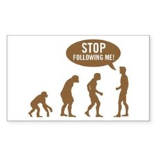 Evolution is following me Rectangle Decal