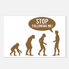 Evolution is following me Postcards (Package of 8)