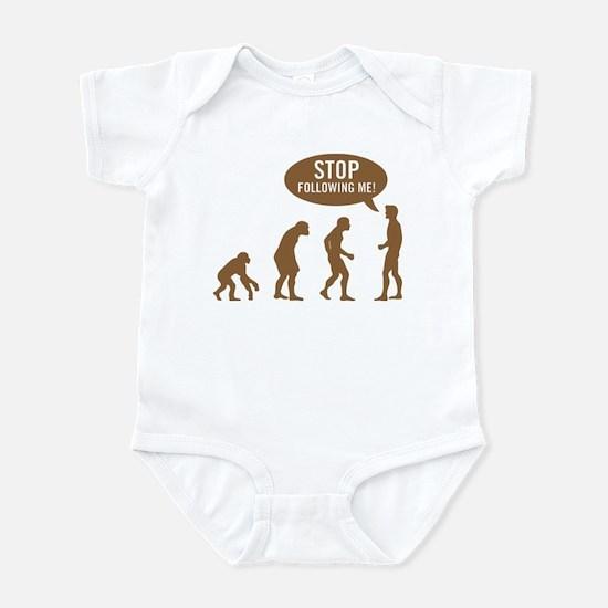Evolution is following me Infant Bodysuit