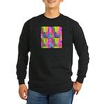 Just Keep Tracking Long Sleeve Dark T-Shirt