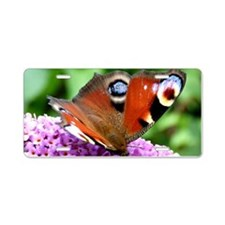 PEACOCK BUTTERFLY Aluminum License Plate