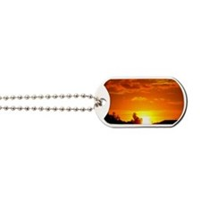 Paint The Sky Gold Dog Tags