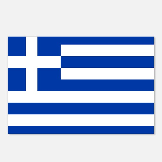 Greece Flag Postcards (Package of 8)