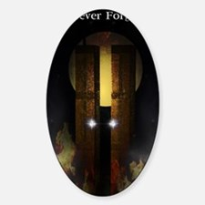 Twin Towers Memorial Sticker (Oval)