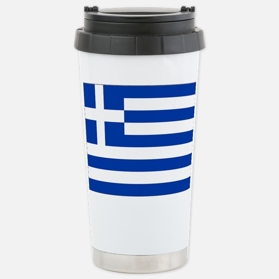 Greece Flag Stainless Steel Travel Mug