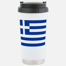 Greece Flag Travel Mug