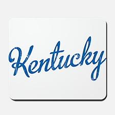 Kentucky Script Blue Mousepad