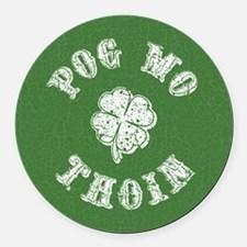 Pog Mo Thoin Round Car Magnet