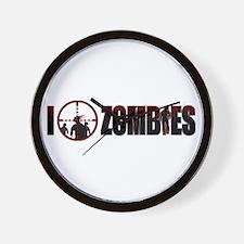 I Kill Zombies Wall Clock