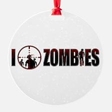 I Kill Zombies Ornament