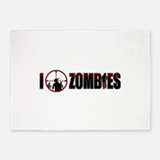 I Kill Zombies 5'x7'Area Rug