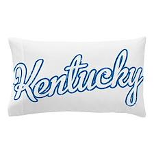 Kentucky Script Blue Pillow Case
