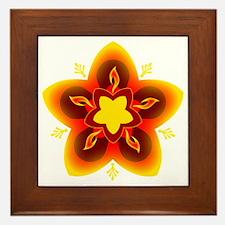 diwali rangoli Framed Tile