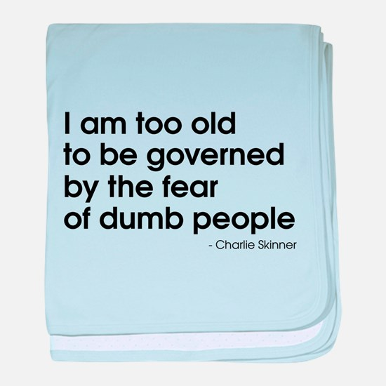 Dumb People (The Newsroom) baby blanket