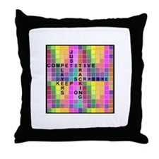 Just Keep Tracking Throw Pillow