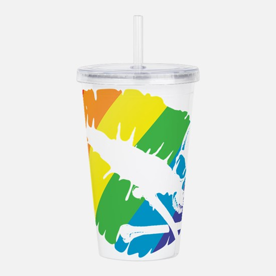poison rainbow kiss Acrylic Double-wall Tumbler