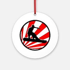 snowboard. Ornament (Round)