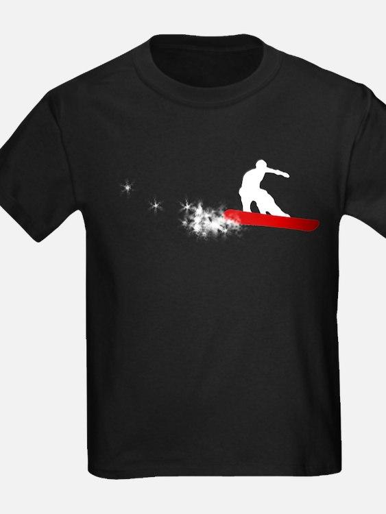 Snowbaord : powder trail : T-Shirt