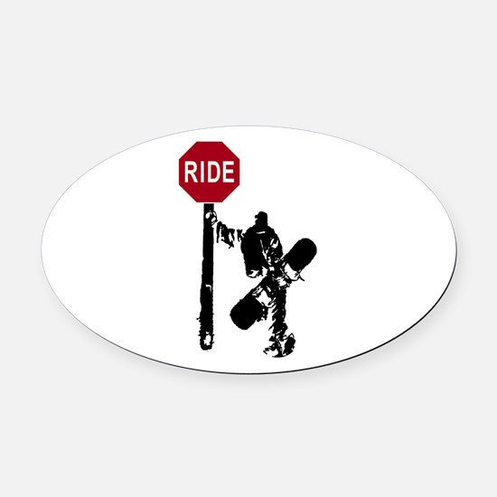 RIDE Oval Car Magnet