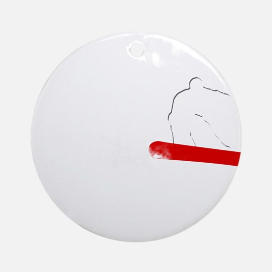 powder trail. Ornament (Round)