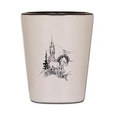 Majestic Unicorn Shot Glass