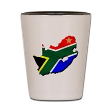 South Africa Flag Map Shot Glass