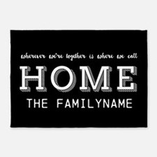 Home Is... Personalized 5'x7'Area Rug