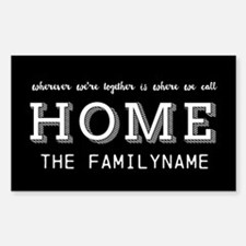 Home Is... Personalized Sticker (Rectangle)