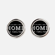 Home Is... Personalized Round Cufflinks