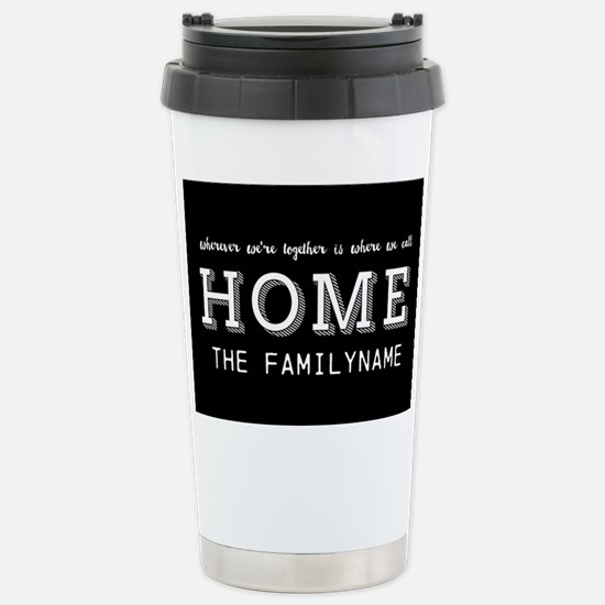 Home Is... Personalized Stainless Steel Travel Mug