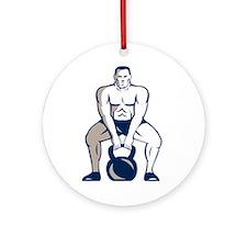 Athlete Weightlifter Lifting Kettlebell Retro Orna