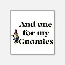 """Unique Gnomies Square Sticker 3"""" x 3"""""""