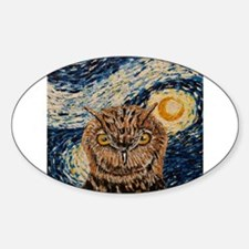 Starry Night Owl Decal