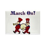 March On Rectangle Magnet
