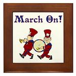 March On Framed Tile