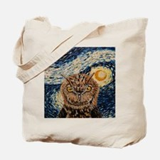 Starry Night Owl Tote Bag