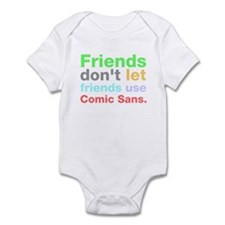 Anti-Comic Sans Font Onesie