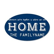Navy and White Home Is... Pe Wall Decal