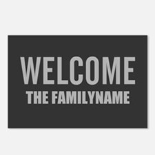 Gray Bold Welcome Personalized Postcards (Package