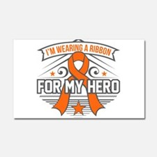 Multiple Sclerosis For My Hero Car Magnet 20 x 12