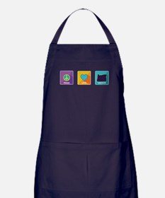 Peace, Love, Oregon Apron (dark)