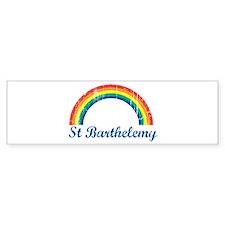 St Barthelemy (vintage rainbo Bumper Bumper Sticker