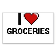 I love Groceries Decal