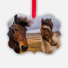 Horses of Iceland Ornament