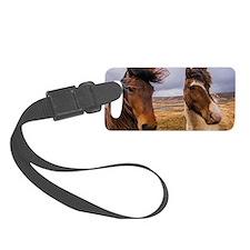 Horses of Iceland Luggage Tag