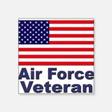 "Funny Us air force Square Sticker 3"" x 3"""