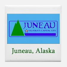 Juneau AK Flag Tile Coaster