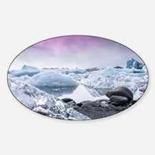 Glaciers of Iceland Sticker (Oval)