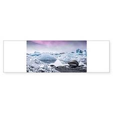 Glaciers of Iceland Bumper Bumper Sticker